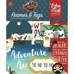 Echo Park - Pirate Tales Collection - Die Cut Tags & Frames
