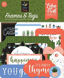 Echo Park - Plant Lady Collection - Die Cut Tags & Frames