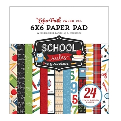 Echo Park - School Rules Collection - 6x6 Paper Pad