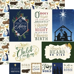 Echo Park - Silent Night Collection - Journaling Cards 12