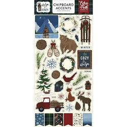 Echo Park - Warm & Cozy Collection - 6x12 Chipboard Accents