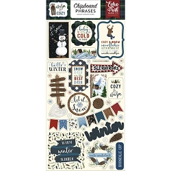 Echo Park - Warm & Cozy Collection - 6x12 Chipboard Phrases