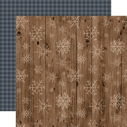 Echo Park - Warm & Cozy Collection - Wooden Snowflakes 12