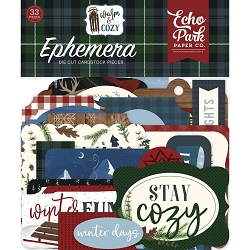 Echo Park - Warm & Cozy Collection - Die Cut Ephemera
