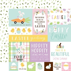 Echo Park - Welcome Easter Collection - Multi Journaling Cards 12
