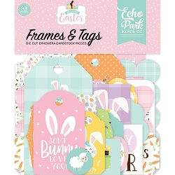 Echo Park - Welcome Easter Collection - Die Cut Tags & Frames