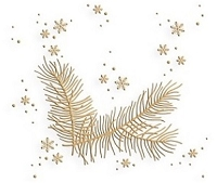 Leane Creatif - LeCrea Design Embossing Folder - Christmas Branch