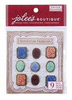 EK Success - Jolee's Boutique French General -Dimensional Stickers - Matte Resin Flowers :)