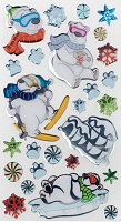 EK - Sticko Epoxy Stickers - Cool Polar Bears
