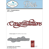 Elizabeth Craft Designs - Die - by Suzanne Cannon - Congratulations