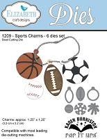 Elizabeth Craft Designs - Pop It Ups Collection by Karen Burniston - Die - Sports Charms