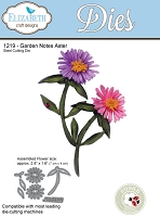 Elizabeth Craft Designs - Die - Garden Notes Aster by Susan Tierney Cockburn