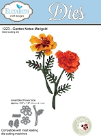 Elizabeth Craft Designs - Die - Garden Notes Marigold by Susan Tierney Cockburn
