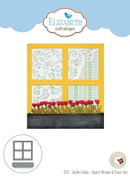 Elizabeth Craft Designs - Die - Garden Notes Square Window & Flower Box by Susan Tierney Cockburn