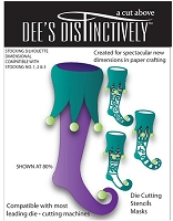 In The Making - Dee's Distinctively Die - Stocking Silhouette