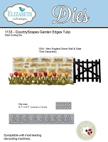 Elizabeth Craft Designs - Die - Country Scapes Garden Edges Tulips (Wall not included) by Susan Tierney Cockburn