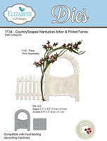 Elizabeth Craft Designs - Die - Country Scapes Nantucket Arbor & Picket Fence (Floral branch not included) by Susan Tierney Cockburn