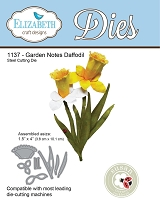 Elizabeth Craft Designs - Die - Garden Notes Daffodil by Susan Tierney Cockburn