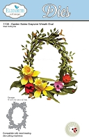 Elizabeth Craft Designs - Die - Garden Notes Grapevine Wreath Oval (Flowers not included) by Susan Tierney Cockburn