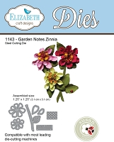 Elizabeth Craft Designs - Die - Garden Notes Zinnia by Susan Tierney Cockburn