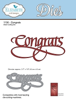 Elizabeth Craft Designs - Die - by Suzanne Cannon - Congrats