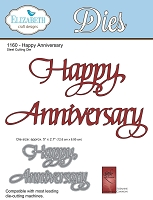 Elizabeth Craft Designs - Die - by Suzanne Cannon - Happy Anniversary