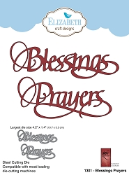 Elizabeth Craft Designs - Die - Blessings Prayers by Suzanne Cannon