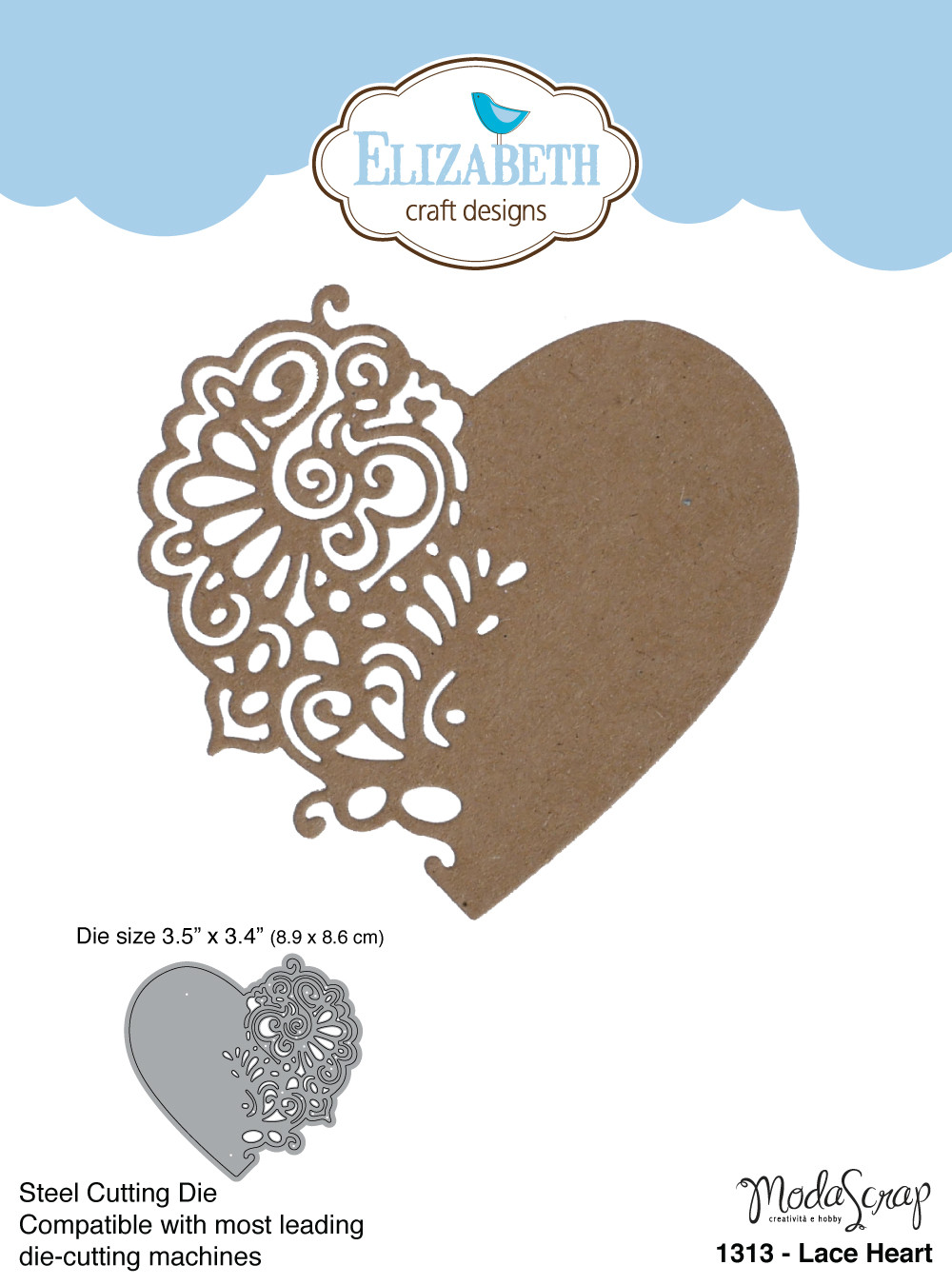 Elizabeth Craft Designs Die Lace Heart By Modascrap