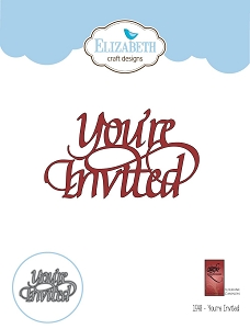 Elizabeth Craft Designs - Die - You're Invited by Suzanne Cannon