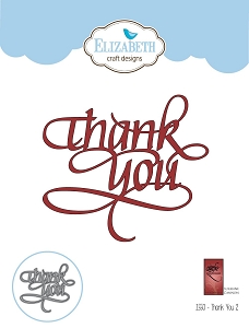 Elizabeth Craft Designs - Die - Thank You 2 by Suzanne Cannon