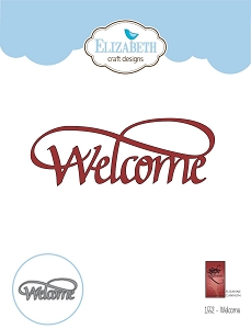 Elizabeth Craft Designs - Die - Welcome by Suzanne Cannon