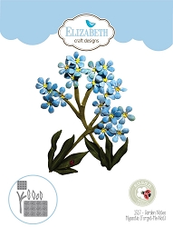 Elizabeth Craft Designs - Die - Garden Notes Myosotis (Forget-Me-Not) by Susan Tierney Cockburn