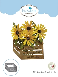 Elizabeth Craft Designs - Die - Garden Notes Wooden Fruit Crate by Susan Tierney Cockburn (flowers not included)