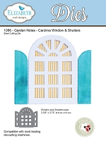 Elizabeth Craft Designs - Die - Garden Notes Carolina Window & Shutters