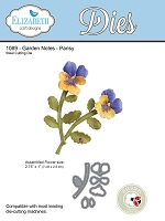 Elizabeth Craft Designs - Die - Garden Notes Pansy
