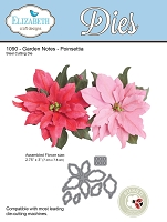 Elizabeth Craft Designs - Die - Garden Notes Poinsettia