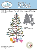 Elizabeth Craft Designs - Die - CountryScapes Woods 4 - Holiday Evergreen & Trimmings