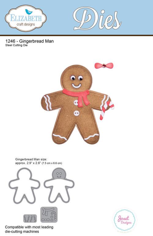Elizabeth Craft Designs Die By Joset Designs Gingerbread Man