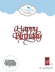 Elizabeth Craft Designs - Die - Happy Birthday Small by Suzanne Cannon