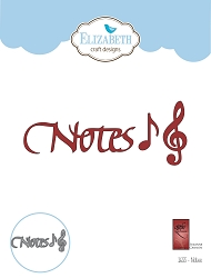 Elizabeth Craft Designs - Die - Notes by Suzanne Cannon