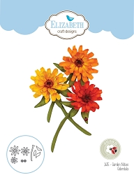 Elizabeth Craft Designs - Die - Garden Notes Calendula by Susan Tierney Cockburn
