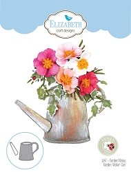 Elizabeth Craft Designs - Die - Garden Notes Watering Can by Susan Tierney Cockburn (flowers not included)