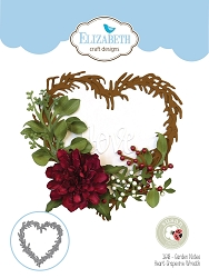 Elizabeth Craft Designs - Die - Garden Notes Heart Grapevine Wreath by Susan Tierney Cockburn (flowers not included)