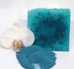 Emerald Creek - Ancient Aqua Boho Blends embossing powder by Gwen Lafleur