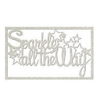 Fab Scraps - Christmas Memories Collection - Chipboard Die Cuts - Sparkle All The Way