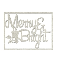 Fab Scraps - Christmas Memories Collection - Chipboard Die Cuts - Merry & Bright