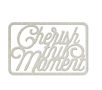 Fab Scraps - Jungle Mist Collection - Chipboard Die Cuts - Cherish This Moment
