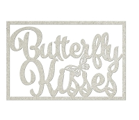 Fab Scraps - Serenity Collection - Chipboard Die Cuts - Butterfly Kisses