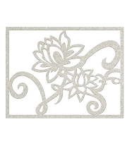 Fab Scraps - Serenity Collection - Chipboard Die Cuts - Lilly Filligree