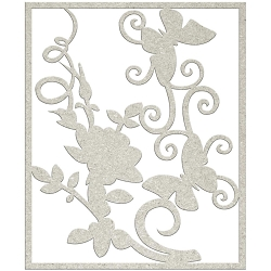 Fab Scraps - Charms of Spring Collection - Die-Cut Chipboard Embellishment - Flower & Butterflies